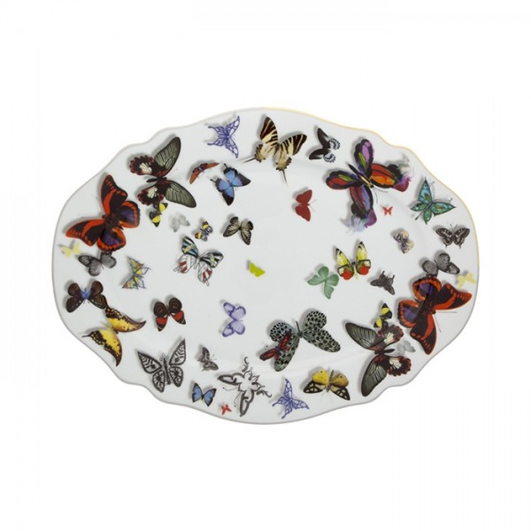 Butterfly Parade Oval Plate-Small
