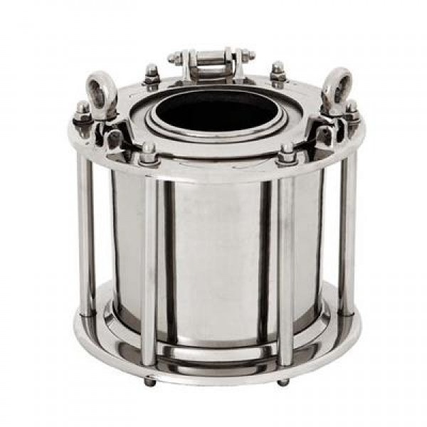 PORTHOLE - WINE COOLER -NICKEL FINISH