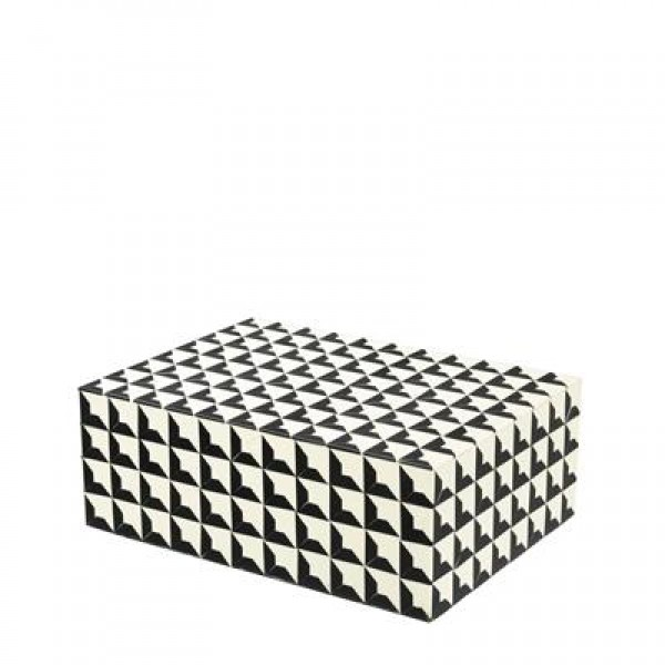CABAS BOX - BLACK & WHITE - SMALL