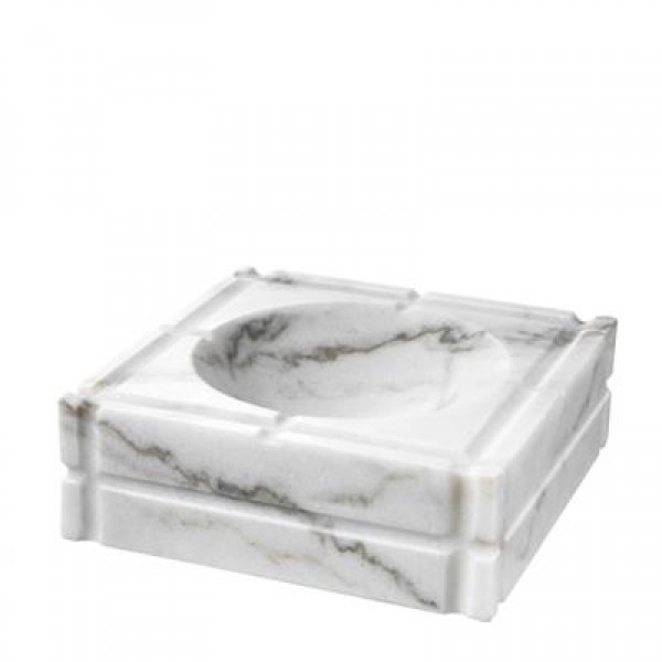 NESTOR - ASHTRAY - WHITE MARBLE