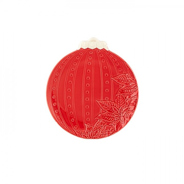 Red Christmas Ball Fruit Plate 24,5cm
