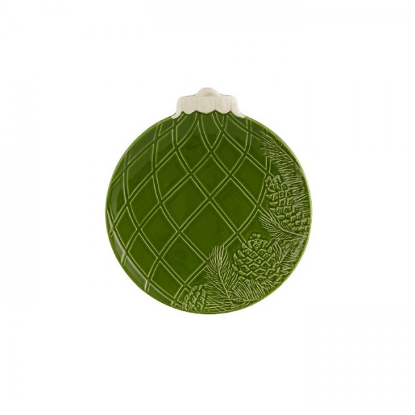 Green Christmas Ball Fruit Plate 24,5cm