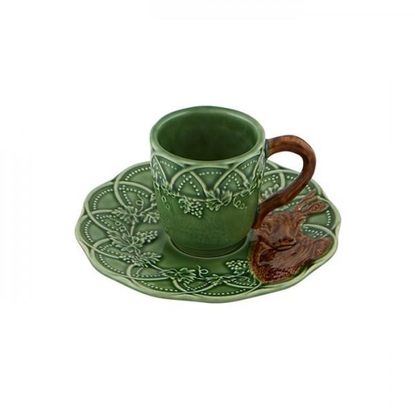 Deer Coffee Cup & Saucer