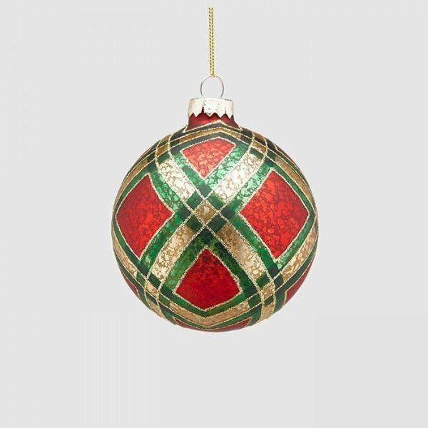 Tartan Ball Ornament/12cm