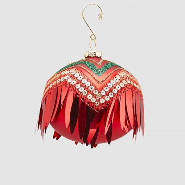 Ball with Fringes Ornament