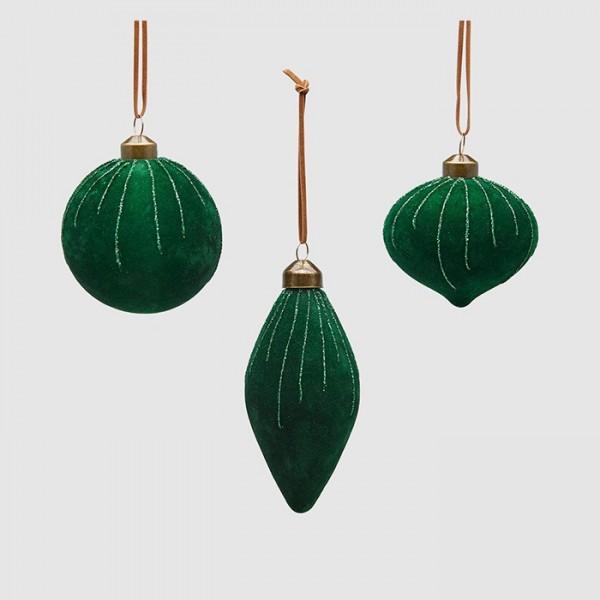 Green Velvet Ornament