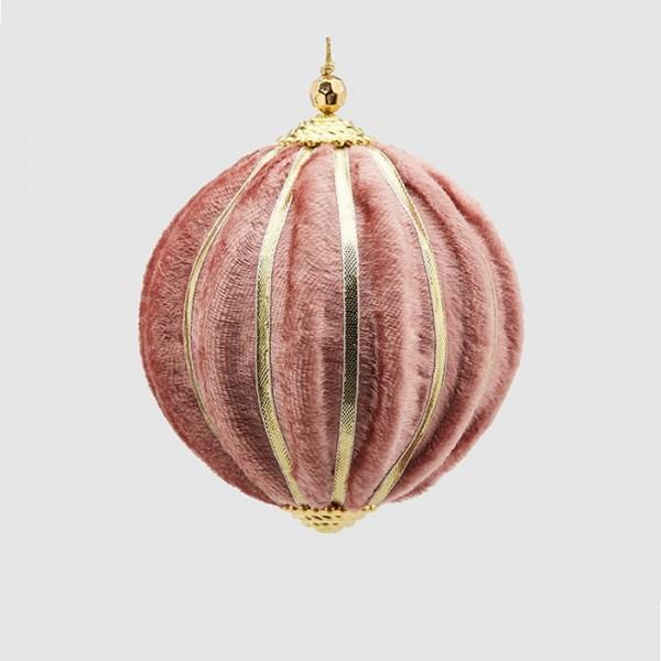 Pink Velvet Ball Ornament