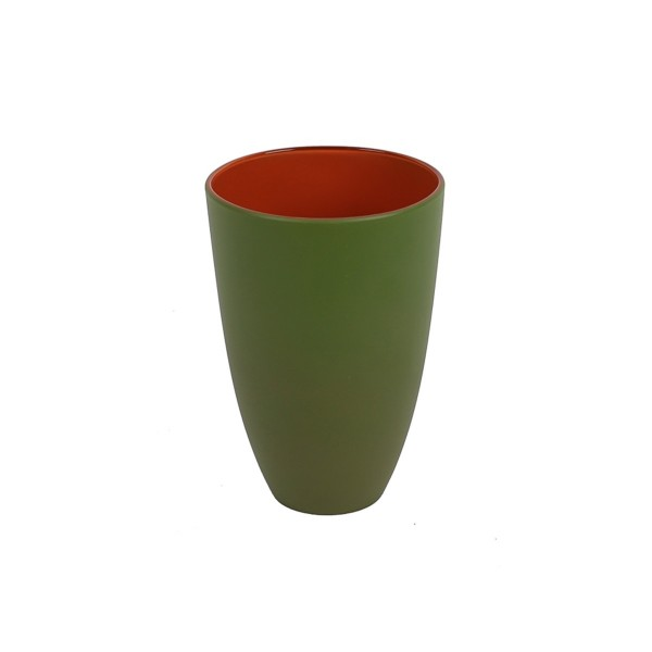 GLASS - GREEN/ORANGE - LARGE