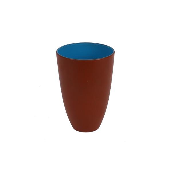 GLASS - BLUE/ORANGE - LARGE