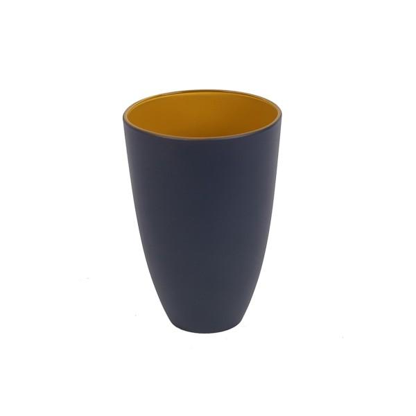 GLASS - BLUE/YELLOW - LARGE