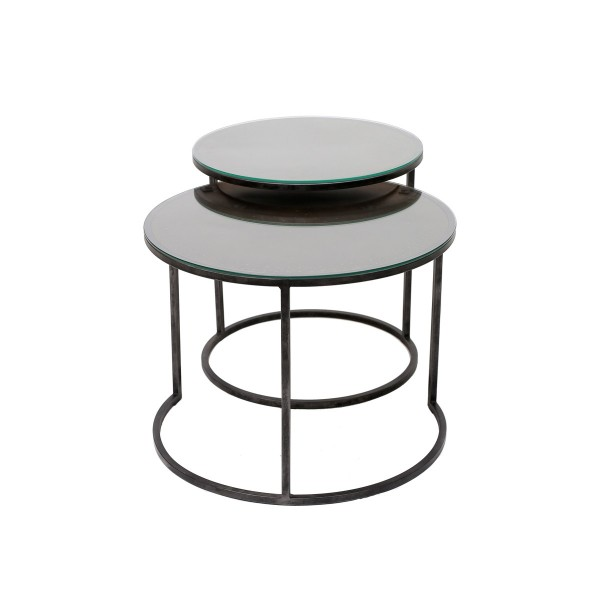Round Bronze Side Table