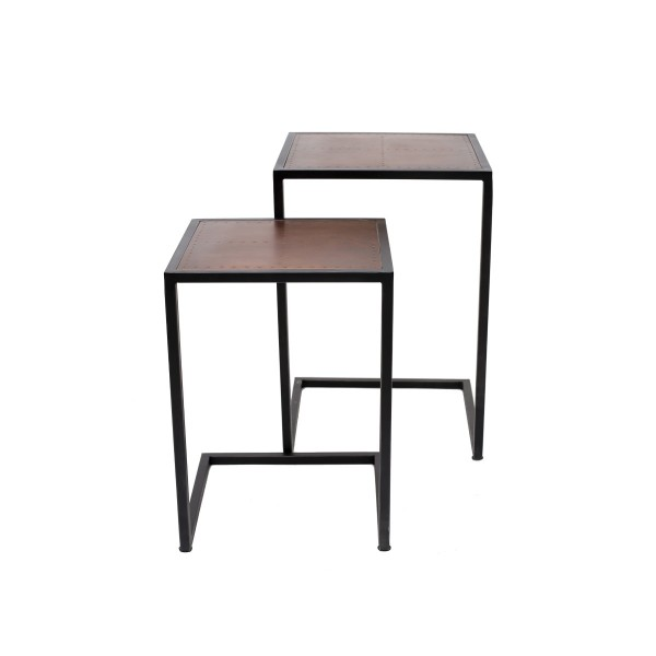 Square Bronze Side Table
