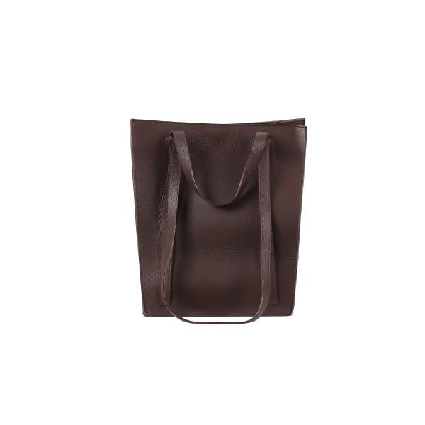 Almira - Julia Brown Leather Bag - 33X31CM