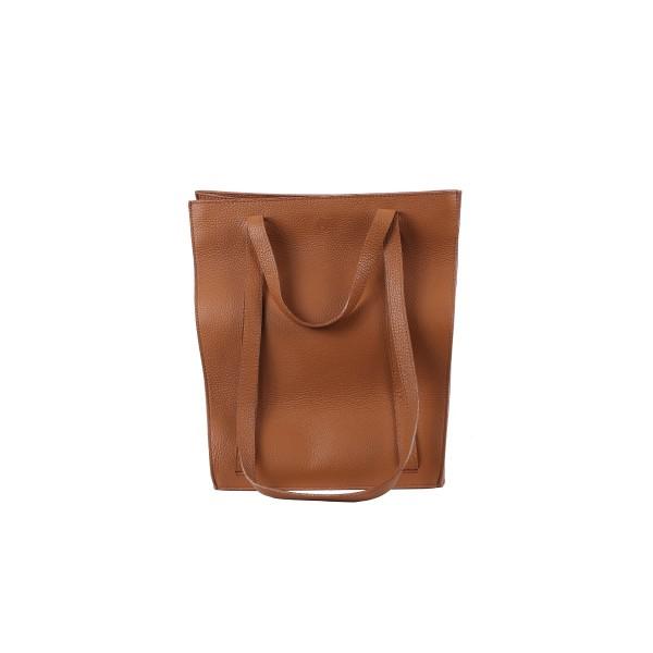 Almira - Julia Leather Cognac - 33X31 CM