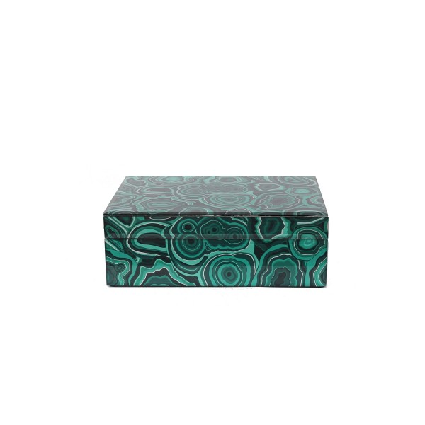 Table Box - Agate Stone - Malachite
