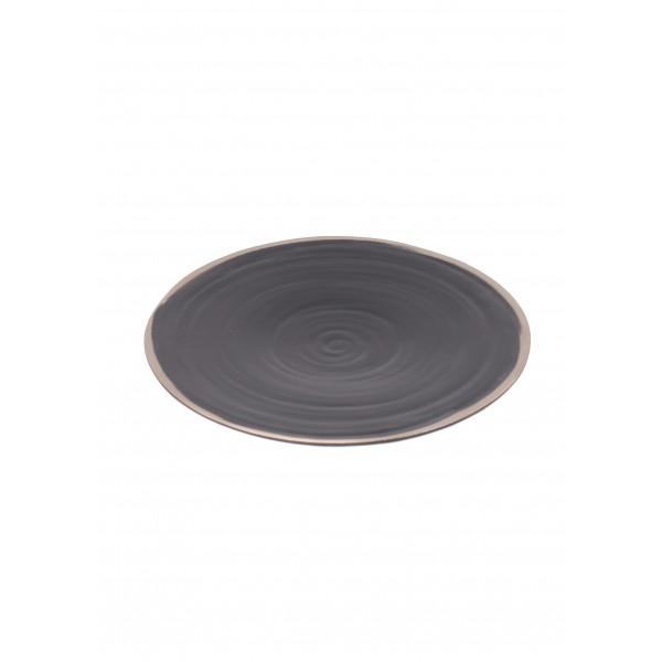 Greystone dinner plate - dark
