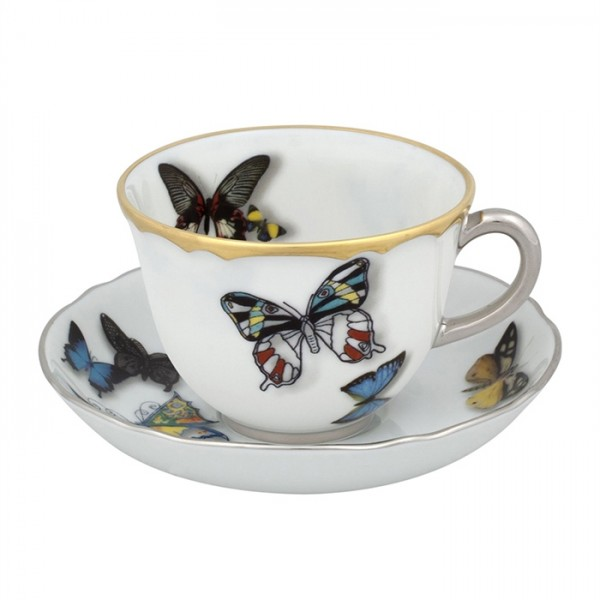 Butterfly Parade Set of 2 Coffee Cups & Saucers