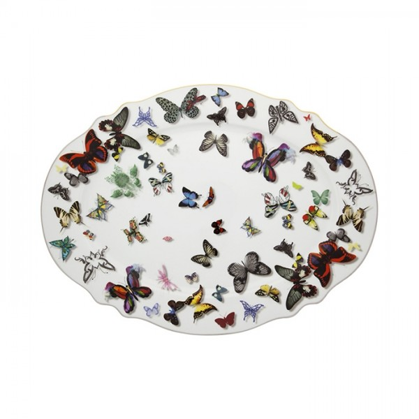 Butterfly Parade Oval Plate-Large