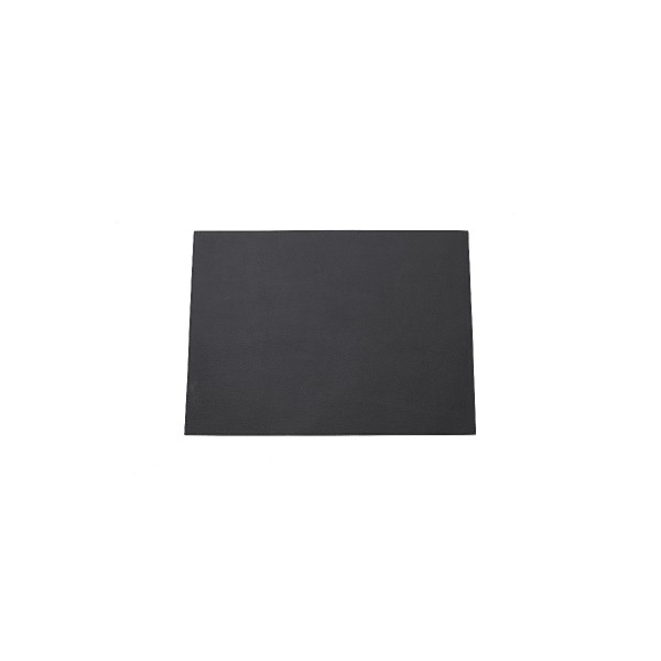 RECTANGLE LEATHER PLACEMAT - BLACK