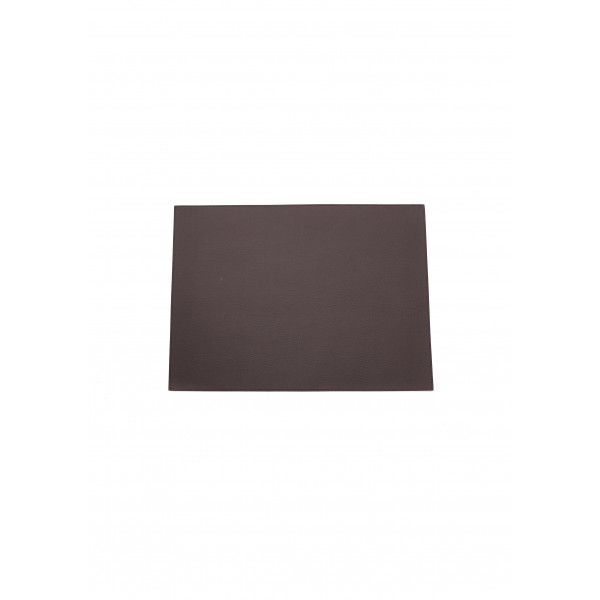 Rectangle leather Placemat - brown