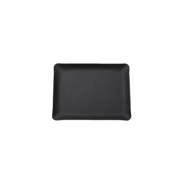 Rectangle Leather Tray - Black - Large