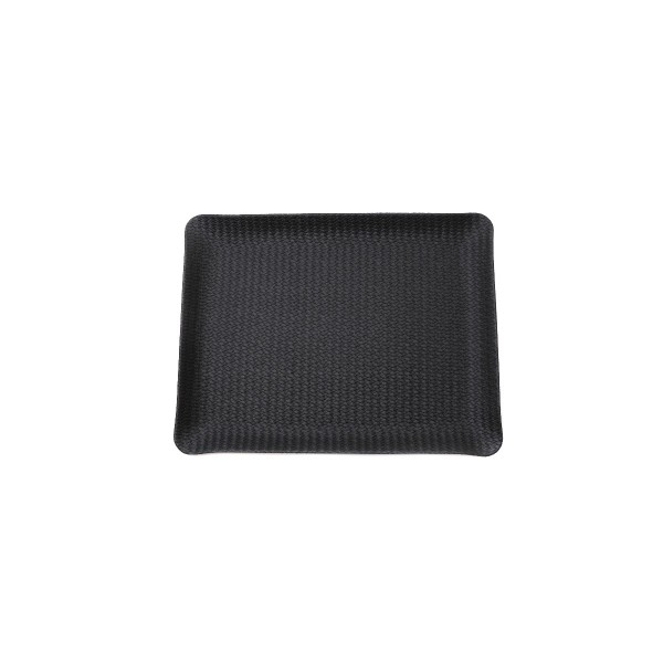 Rectangle leather tray - Black rattan - Large
