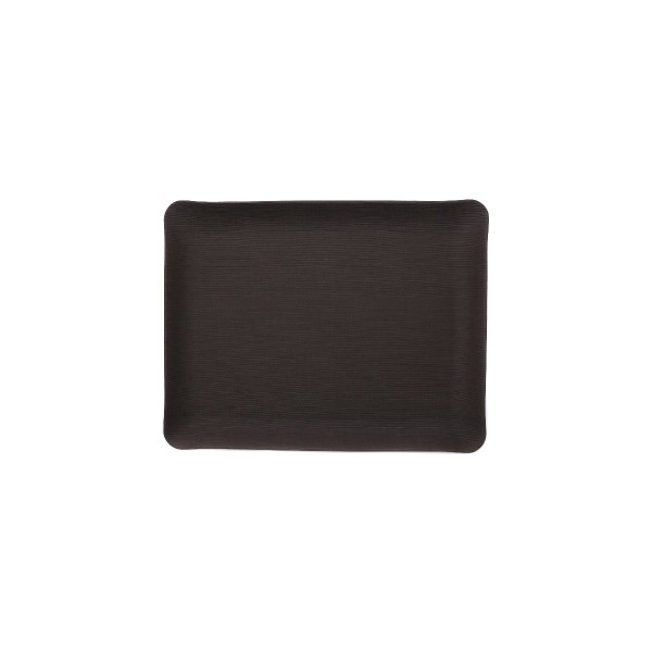 Rectangle Leather Tray - Black - Small