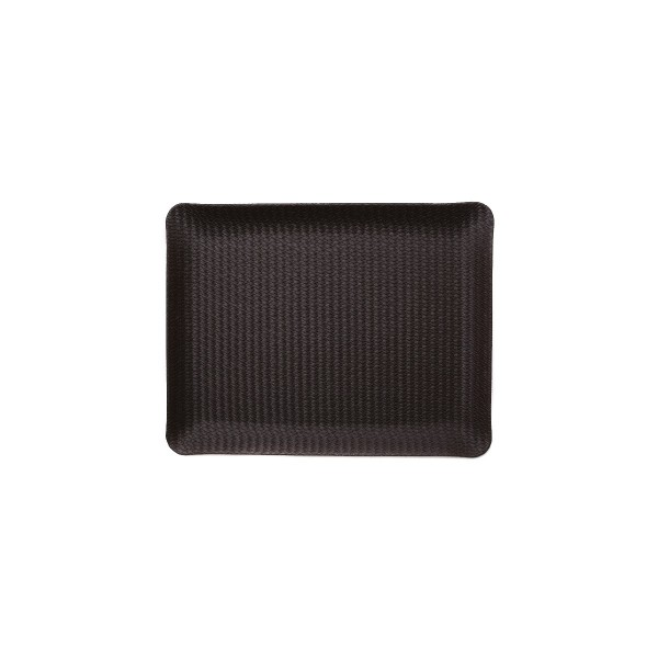 Rectangle leather tray - Brown rattan - Small