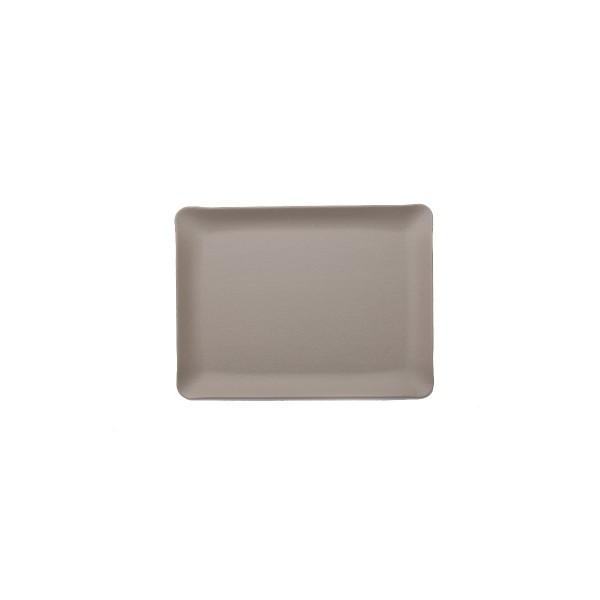 Rectangle leather tray - Beige - Large
