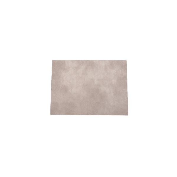 Rectangle Leather Placemat / Beige