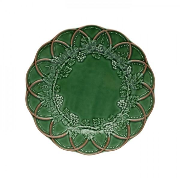 Dinner Plate 28cm Green/Brown