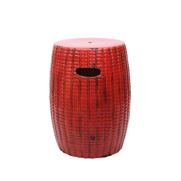 Coral Ceramic Stool