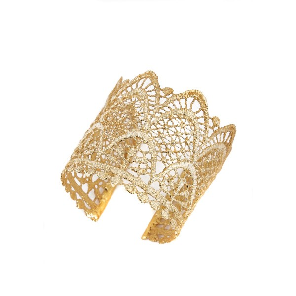 Elena Kougianou Small Lace Arrow Cuff - Gold Plated