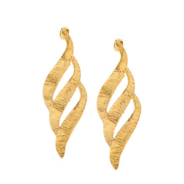 Elena Kougianou - Orabelle Lace Earrings - Gold Plated