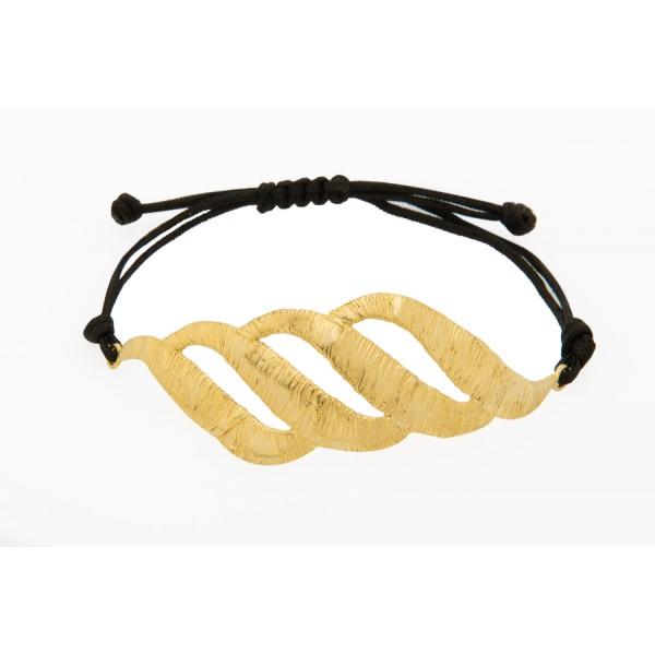 Elena Kougianou Orabelle Lace Bracelet - Gold Plated