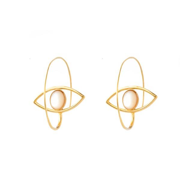 Elena Kougianou Eye Loop Earrings