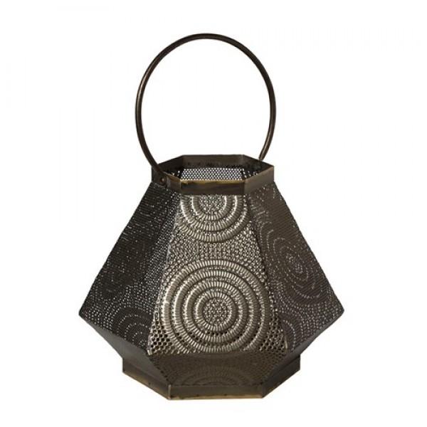 Metal Lantern - Dark Bronge