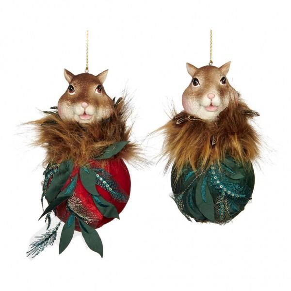 Fairy Squirrel Ball Ornament