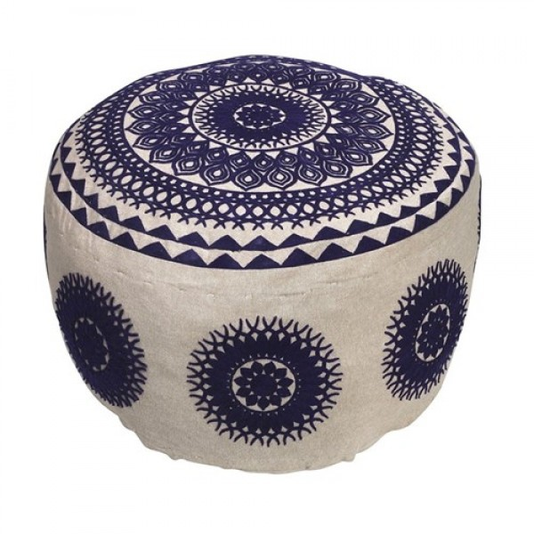 ROUND POOF CHAIR - BOHO BLUE