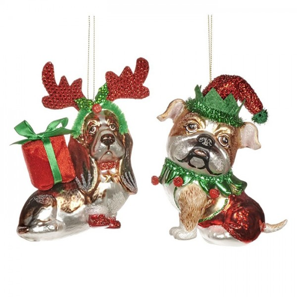 Happy Xmas Dog Ornament