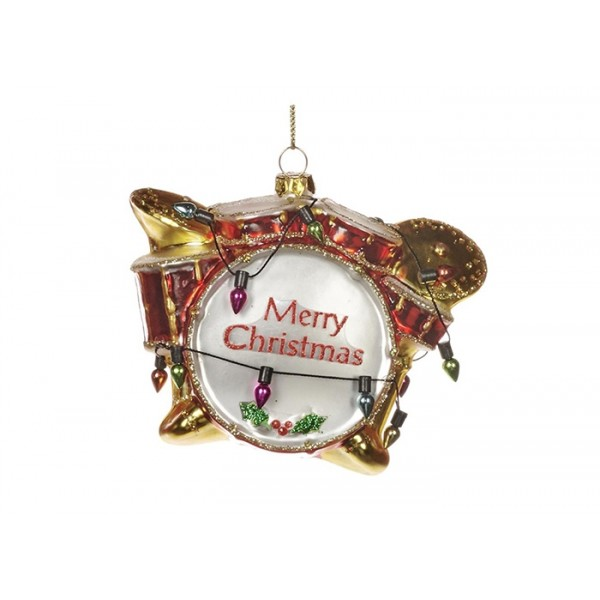Merry Xmas Drums Ornament