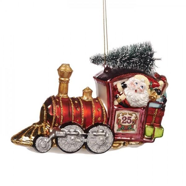 Santa's Train Ornament