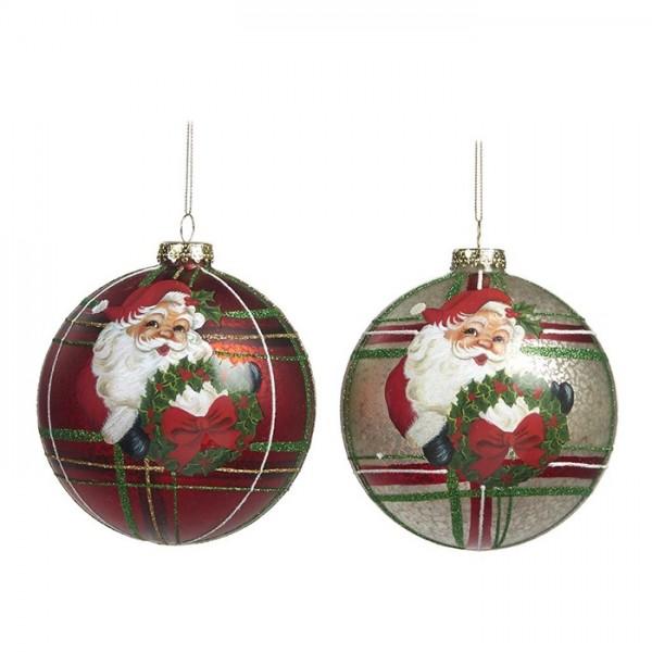 Santa Ball Ornament