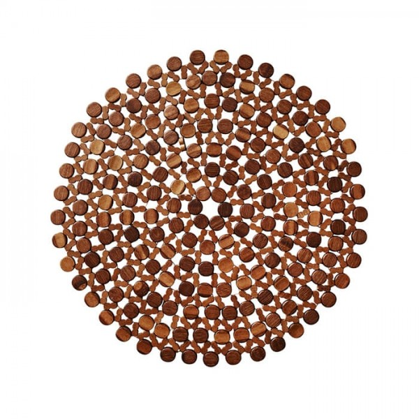 Kim Seybert Round Bamboo Placemat In Brown