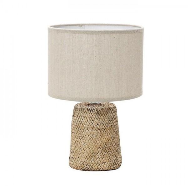 Λάμπα Καφέ με Μπεζ Καπέλο 66cm