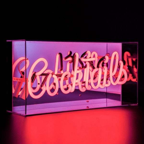 Locomocean Acrylic Box Neon Cocktails Red