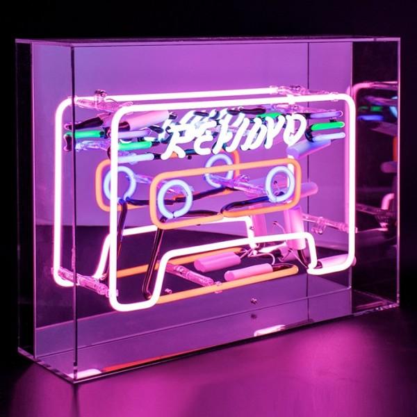 Locomocean Cassette Acrylic Box Neon