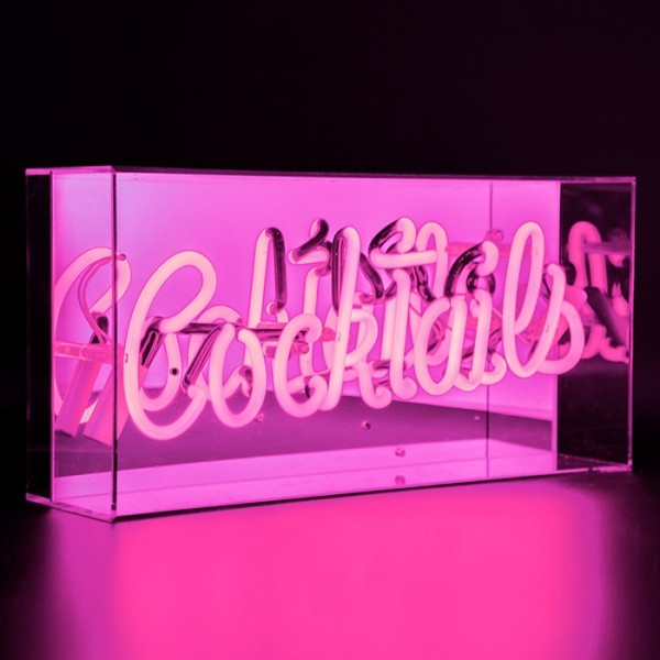 Locomocean Pink Cocktails Acrylic Box Neon