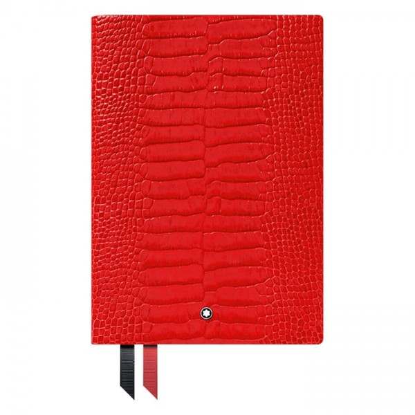 Montblanc Fine Stationery Notebook #146 Croco Print Poppy Red