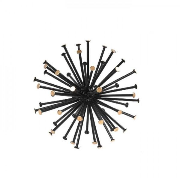 Μπάλα Μεταλλική Μαύρη 16cm